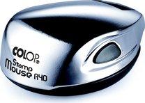 Карманная оснастка для круглой печати Colop Mouse R40 D=40мм, (ХРОМ) с подушкой.
