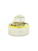 Оснастка для печатей «Магнетик» d41 мм с подушкой НИКЕЛЬ/ЗОЛОЧЕНИЕ (25 В-2)